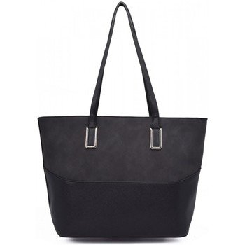 Sacs Femme Cabas / Sacs shopping Crazychic Sac à Main Cabas Shopping Grande Capacité Noir