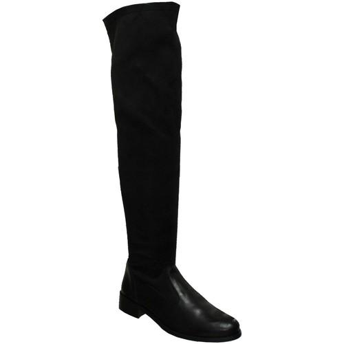 Chaussures Femme Cuissardes Folies Yat Noir cuir