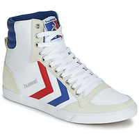 Chaussures Homme Baskets montantes Hummel TEN STAR HIGH CANVAS Blanc / Bleu / Rouge