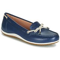 Chaussures Femme Mocassins Geox D VEGA MOC Bleu / Nude