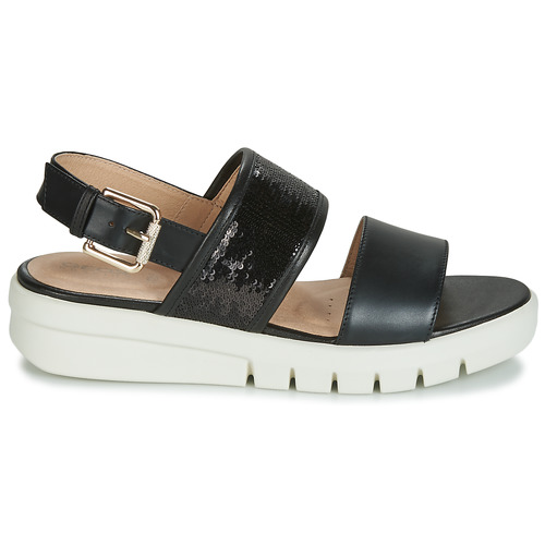 Sandal Geox Sandales Wimbley Femme Et D Nu pieds Noir R5Aj34Lq