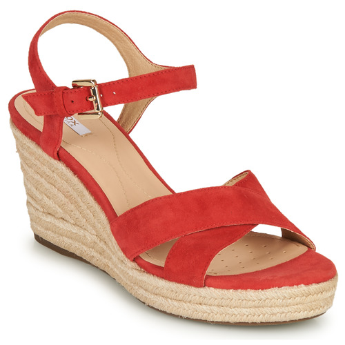 D 50 Soleil Femme Sandale Geox 58 Chaussures Rouge € Corail AR345Lj