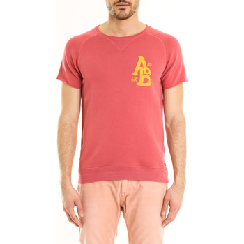 Vêtements Homme T-shirts manches courtes Scotch & Soda Sweat Cut Off  Rouge Rouge