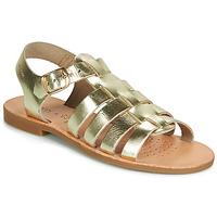 Chaussures Fille Sandales et Nu-pieds Geox J SANDAL VIOLETTE GI Doré