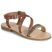 Chaussures Fille Sandales et Nu-pieds Geox J SANDAL VIOLETTE GI Marron