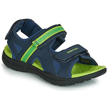 Chaussures Garçon Sandales sport Geox J GLEEFUL BOY Bleu / Jaune