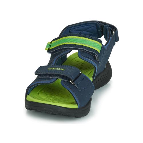 Gleeful Chaussures Geox BleuJaune Boy Sport Garçon J Sandales qSzMUpV