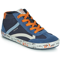 Chaussures Garçon Baskets montantes Geox J ALONISSO BOY Marine / Orange