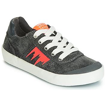 Chaussures Garçon Baskets basses Geox J KILWI BOY Gris / Orange