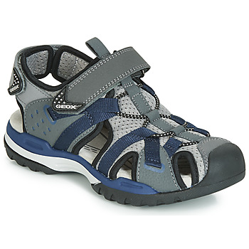 Chaussures Garçon Sandales sport Geox J BOREALIS BOY Gris / Marine