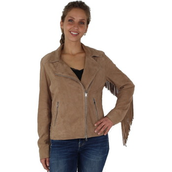 Vêtements Femme Blousons Pallas Cuir Blouson en  sélection en cuir ref_cco38712-beige Beige