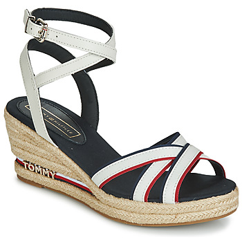 Chaussures Femme Sandales et Nu-pieds Tommy Hilfiger ICONIC ELBA CORPORATE RIBBON White