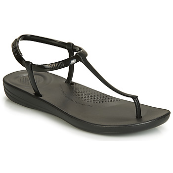 Chaussures Femme Tongs FitFlop IQUSHION SPLASH - PEARLISED Black