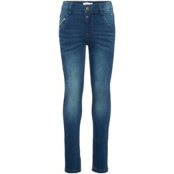 Vêtements Fille Jeans slim Name It Kids NKMTHEO DNMCLAS 2082 PANT NOOS Bleu