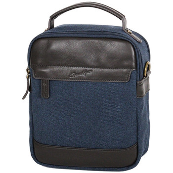 Sacs Homme Sacs porté main Gerard Henon Sacoche portee travers Collection Safari 22310 Bleu