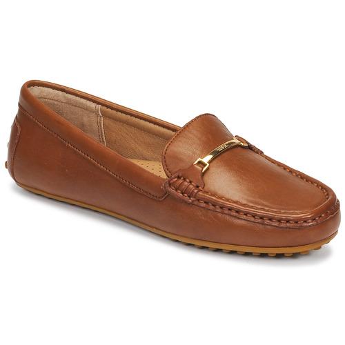 Chaussures Femme Mocassins Lauren Ralph Lauren BRIONY Cognac