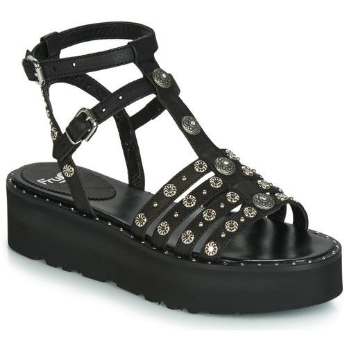 Chaussures Femme Sandales et Nu-pieds Fru.it 5433-476 Noir / Clou