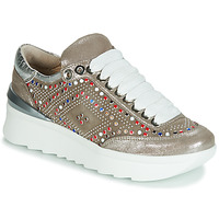 Chaussures Femme Baskets basses Now 5357-008 Beige / Paillettes