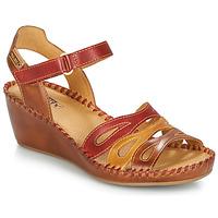 Chaussures Femme Sandales et Nu-pieds Pikolinos MARGARITA 943 Rouge / marron