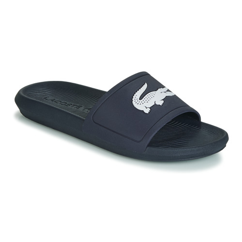 14e283ae63 Chaussures Homme Claquettes Lacoste CROCO SLIDE 119 1 Marine / Blanc