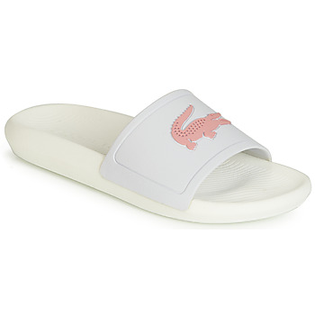 Chaussures Femme Claquettes Lacoste CROCO SLIDE 119 3 Blanc / Rose