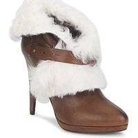 Chaussures Femme Bottines Roberto Cavalli QPS586-PJ027 Marron / Blanc