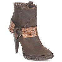 Chaussures Femme Bottines Roberto Cavalli QPS577-PK206 Marron