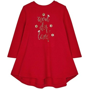 Vêtements Fille Robes Mayoral Robe brodée Strass Rouge Rouge