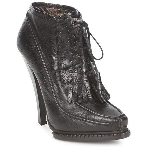 Chaussures Femme Bottines Roberto Cavalli QDS640-PZ030 Noir