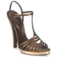Chaussures Femme Sandales et Nu-pieds Roberto Cavalli QDS627-PM027 Bronze