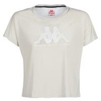 Vêtements Femme T-shirts manches courtes Kappa YERRI Beige Gris