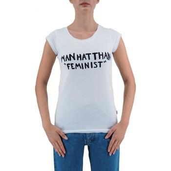 Vêtements Femme T-shirts manches courtes Ko Samui Tailors T-Shirt Feministe Manhatthan Blanc  KSUTB482FE Blanc