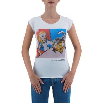 Vêtements Femme T-shirts manches courtes Ko Samui Tailors Alice Au Pays des Merveilles T-Shirt Blanc  KSU Blanc