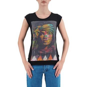 Vêtements Femme T-shirts manches courtes Ko Samui Tailors   T-Shirt Indien Noir   KSU_TBC423INDIAN_BLK Noir