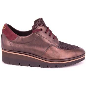 Chaussures Plaju PIEL METALIZADA BURDEOS