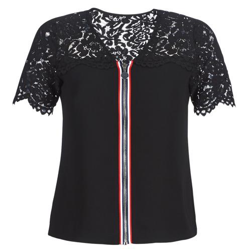 OSALI  Morgan  tops / blouses  femme  noir