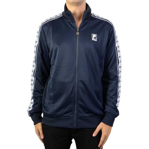 Vêtements Homme Vestes de survêtement Fila Sweat Zippé Ralph Track Jacket Black Iris