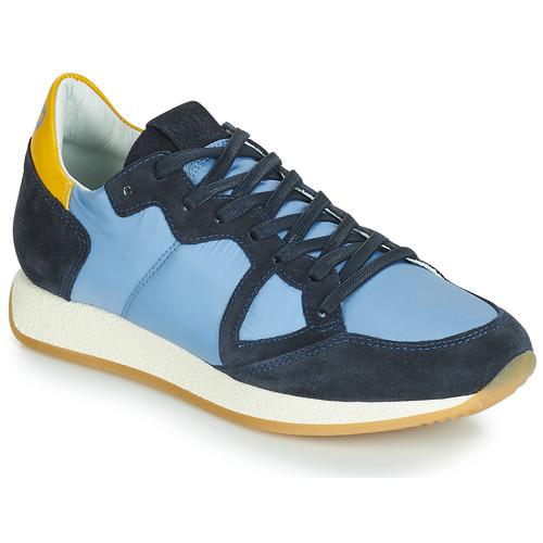 Chaussures Femme Baskets basses Philippe Model MONACO VINTAGE BASIC Bleu / Jaune