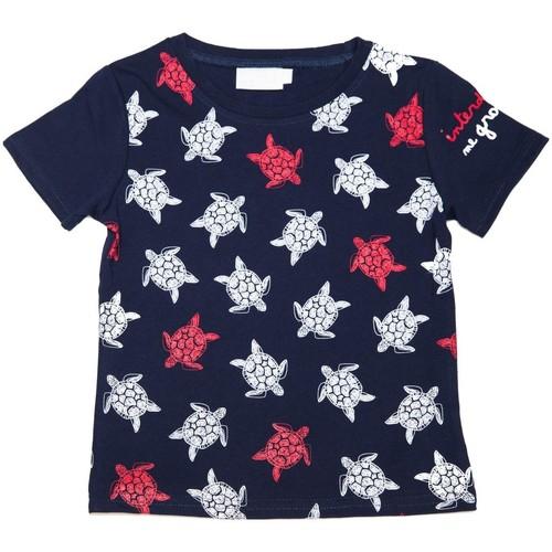 Vêtements Fille T-shirts manches courtes Interdit De Me Gronder Océan Bleu