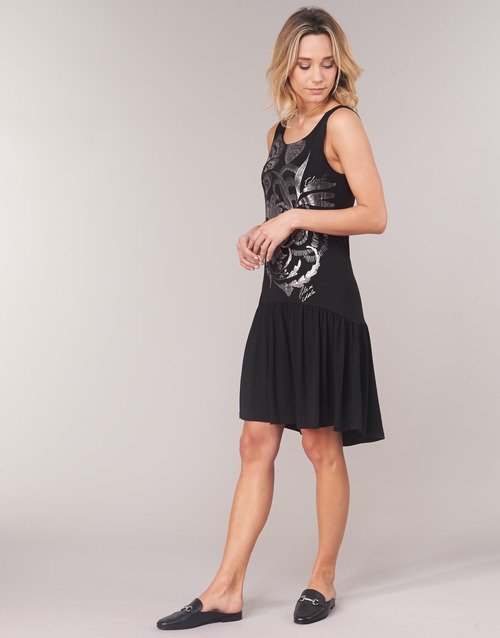 Courtes Robes Omahas Femme Noir Desigual DH2YE9IeW