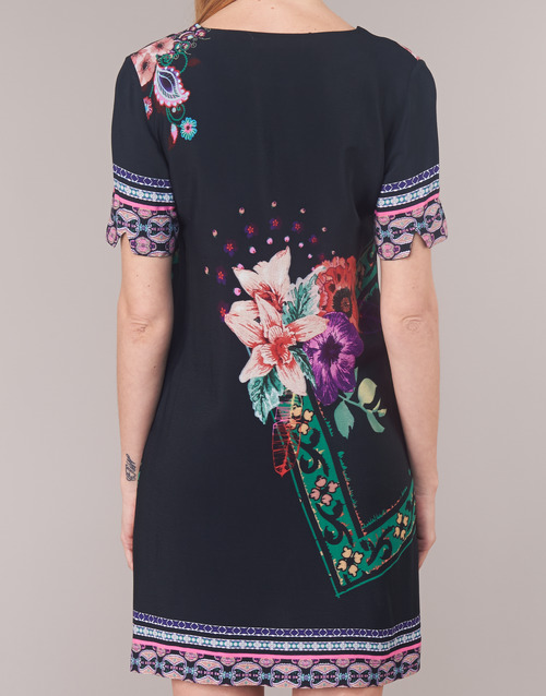 Barta Femme Robes Desigual Courtes Noir knONX80wP