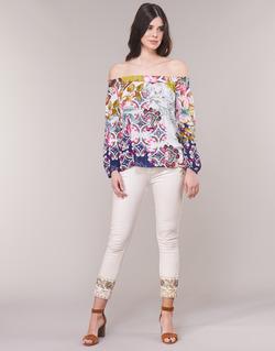 Vêtements Femme Jeans droit Desigual SARI WHITE Marine