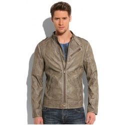 Vêtements Homme Vestes en cuir / synthétiques Guess Blouson  en synthétique Barracuda Gris