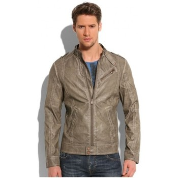 Vêtements Homme Vestes en cuir / synthétiques Guess Blouson  en synthétique Barracuda Gris Noir