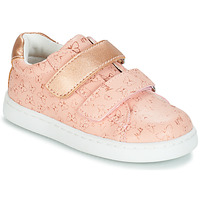 Chaussures Fille Baskets basses Mod'8 OUPAPILLON Rose / Doré