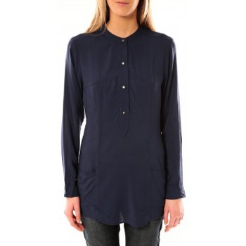 Blouses Vero moda alec l/s tunic w/out top pockets 10097849 bleu