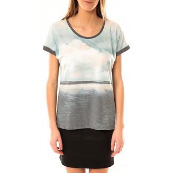 Vêtements Femme T-shirts manches courtes Vero Moda Cloud SS Top 10096122 Gris Bleu