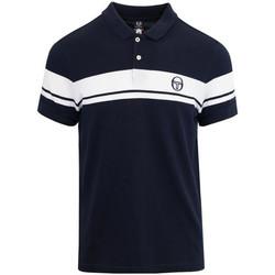 Vêtements Homme Polos manches courtes Sergio Tacchini Polo  YOUNG LINE POLO Bleu Et Blanc