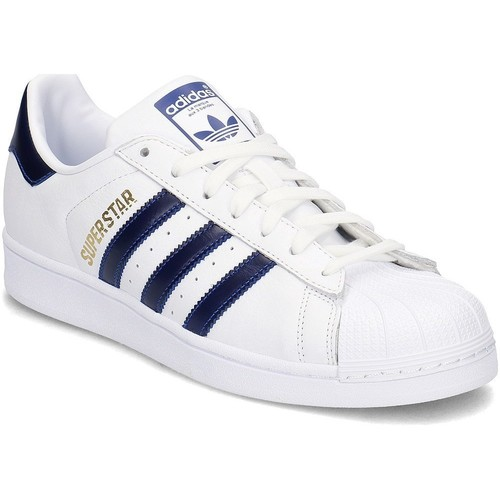 Chaussures Homme Baskets basses adidas Originals Superstar Blanc,Bleu marine