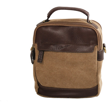 Sacs Homme Sacs porté main Gerard Henon Sacoche Portée Travers Collection Safari 22310 Marron clair